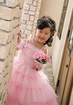 大好きなピンクのドレスでお姫様みたい☆