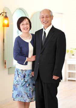 夫婦でもパチリ☆お母さんも「緊張する」と言っていましたが、BOSSのおかげでこの笑顔♡