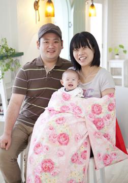 最高の笑顔です♡パパ・ママもナイススマイル(^▽^)