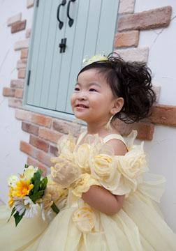 3着目のドレス。疲れてるのにこんな笑顔をしてくれました