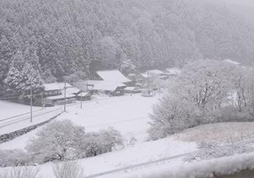 通行止めの高速を降りたらこんな雪景色でした(いわき市ですよ〜)