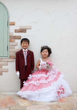 洋装で2ショット。