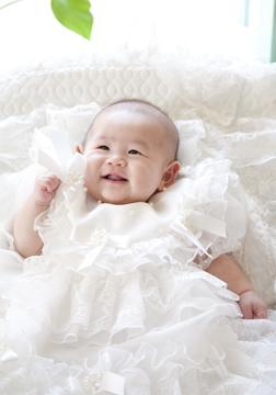 ドレスに変身☆ここでもカワイイ笑顔を見せてくれました。