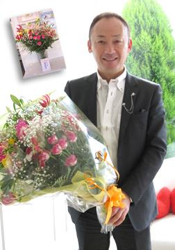 写真の勉強会「東北PPS」の幕田会長からいただいた花束です。
