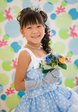 水色のドレスがとっても似合ってました。笑顔かわいい〜