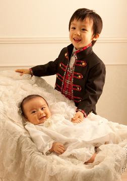 兄弟2人でのツーショット。エイちゃんが会心の笑顔です。