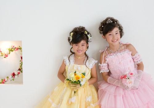 おねえちゃんとドレスでツーショット♡♡
