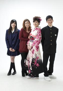 美人三姉妹+長男・・男子よ、頑張れ!!