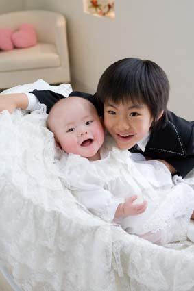 兄弟そろっていい笑顔。はるとくんがよく笑ってくれました。