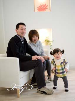 パパとママといっしょにニコニコ笑顔で(^o^)