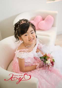 ピンクのドレスがとても可愛かったです