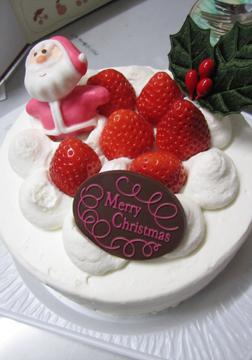 ちゃんとクリスマスケーキも用意してくれたんです