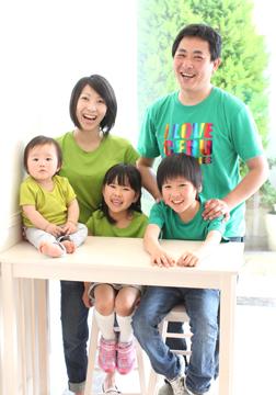 今回はみんなグリーンのTシャツです♡