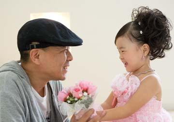 このかちゃんが大好きなパパと見つめ合ってます。パパ嬉しそ〜!