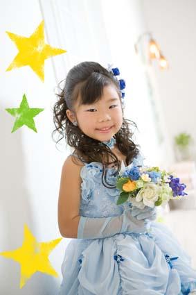 ブルーのドレスも凄くお似合いでした。これもあんなちゃんが選んだんですって。