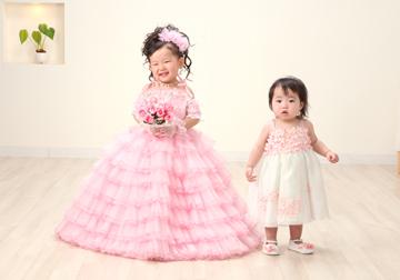 妹の「ひなこちゃん」も一緒にドレスアップ!!